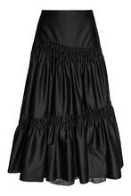 Biryukov | Черная юбка с драпировками | Clouty