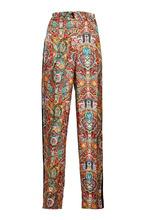 Etro | Шелковые брюки с принтом и лампасами | Clouty