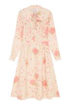 VALENTINO | Шелковое платье с цветочным принтом | Clouty