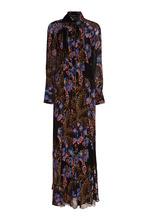 Etro | Черное шелковое платье с принтом | Clouty