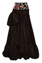 Alexander McQueen | Шелковая юбка с вышивкой на поясе | Clouty