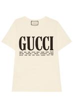 GUCCI | Хлопковая футболка с контрастным лого | Clouty