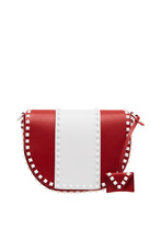 VALENTINO | Комбинированная сумка из кожи Free Rockstud Valentino Garavani | Clouty