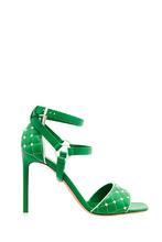 VALENTINO | Зеленые босоножки с контрастными шипами | Clouty