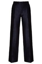 Amina Rubinacci | Прямые брюки из льна и хлопка с блеском Mimo Lungo | Clouty