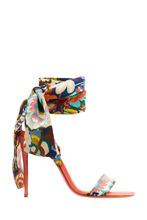 Christian Louboutin | Босоножки с шелковыми лентами Sandale Du Desert 100 | Clouty