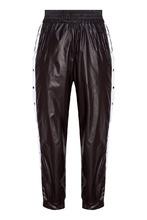 Sport Angel | Черные брюки с белыми лампасами | Clouty