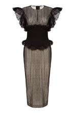 Ulyana Sergeenko | Платье из черного вышитого хлопка | Clouty