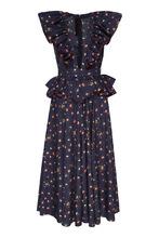 Ulyana Sergeenko | Хлопковое платье с оборками | Clouty