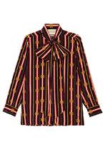GUCCI   Шелковая блузка с принтом   Clouty