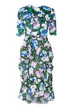 Balenciaga | Платье-миди с веточным принтом | Clouty
