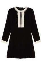 Sandro | Мини-платье с контрастной отделкой | Clouty