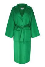 Loewe | Зеленое шерстяное пальто с поясом | Clouty