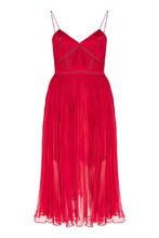 Self-Portrait | Красное плиссированное платье | Clouty
