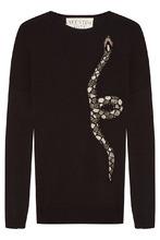 VALENTINO | Черный джемпер со змеей | Clouty