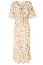 MIU MIU | Шелковое платье с цветочным принтом | Clouty