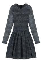 Maje | Серое платье с длинными рукавами | Clouty