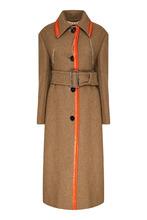 Marni | Бежевое пальто с контрастной отделкой | Clouty