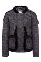 Color°Temperature   Короткая серая куртка с мехом   Clouty