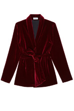 ЛИ-ЛУ | Бордовый бархатный костюм | Clouty