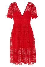 Self-Portrait | Красное кружевное платье | Clouty