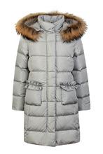 Il Gufo | Серое стеганое пальто с мехом | Clouty
