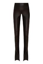 Izeta   Кожаные брюки с разрезами   Clouty