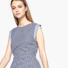 La Redoute Collections | Платье в клетку с круглым вырезом, без рукавов, 100% хлопок | Clouty