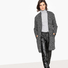 La Redoute Collections | Пальто-миди из меланжевой ткани | Clouty