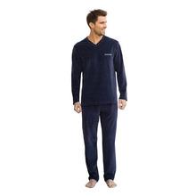 ATHENA | Пижама длинная из велюра с V-образным вырезом | Clouty
