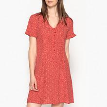LA BRAND BOUTIQUE COLLECTION | Платье расклешенное с V-образным вырезом и короткими рукавами PANAMA | Clouty