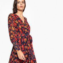 La Redoute Collections | Платье длинное с запахом с цветочным рисунком | Clouty