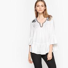 La Redoute Collections | Блузка в стиле фолк с вышивкой | Clouty