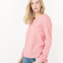 VERO MODA | Блузка в полоску с V-образным вырезом | Clouty