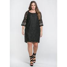 Mat Fashion | Платье кружевное с короткими рукавами | Clouty