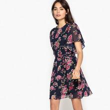Best Mountain | Платье короткое, расклешенное с цветочным рисунком | Clouty