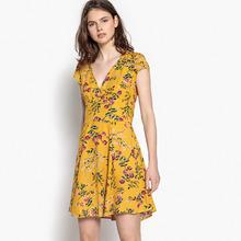 Best Mountain | Платье короткое расклешенное с цветочным рисунком | Clouty