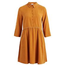Vila | Платье с рубашечным воротником, детали с люрексом | Clouty