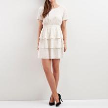 Vila | Платье однотонное средней длины, расширяющееся книзу | Clouty