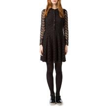 Best Mountain | Платье однотонное короткого и расклешенного покроя с длинными рукавами | Clouty