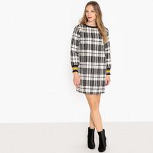 La Redoute Collections | Платье прямое в клетку с застежкой на молнию сзади | Clouty