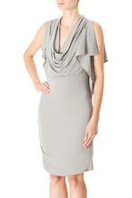 Halston Heritage   Серое платье из вискозы   Clouty