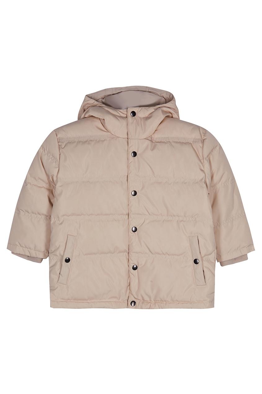 Caramel Baby   Child   бежевый Стеганая куртка   Clouty 635f2ca2351