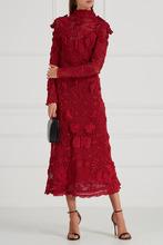 VALENTINO | Хлопковое платье с вязаным декором | Clouty