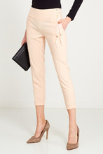Elisabetta Franchi | Бежевые брюки с манжетами | Clouty