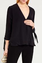 Elisabetta Franchi | Шелковая блузка с драпировкой | Clouty