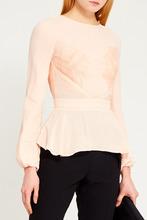 Elisabetta Franchi | Бежевая блузка с кружевом | Clouty
