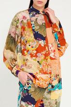 GUCCI   Цветная блузка с ярким принтом   Clouty