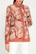 GUCCI   Удлиненная блузка с принтом   Clouty