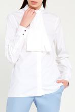 GUCCI   Белая блузка с завязками на воротнике   Clouty